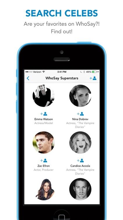 WhoSay - A social magazine by celebrities screenshot-3