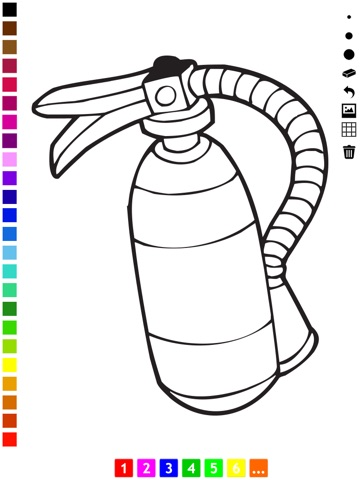 Firefighter Coloring Book for Children: Learn to color firemen ...