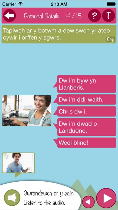 Learn Cymraeg Gogledd - Mynediad screenshot four