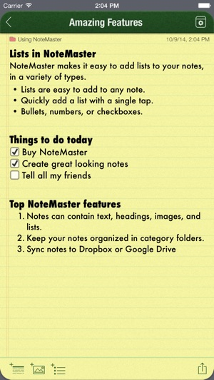 NoteMaster - amazing notes Screenshot