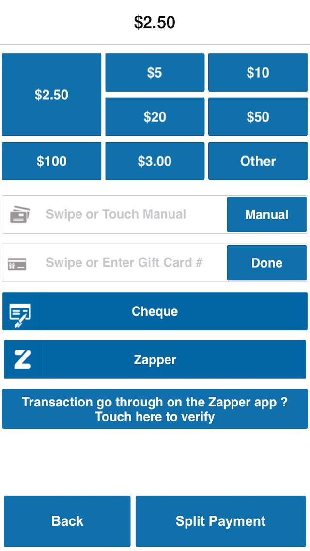 SalesVu POS for iPhone Screenshot on iOS