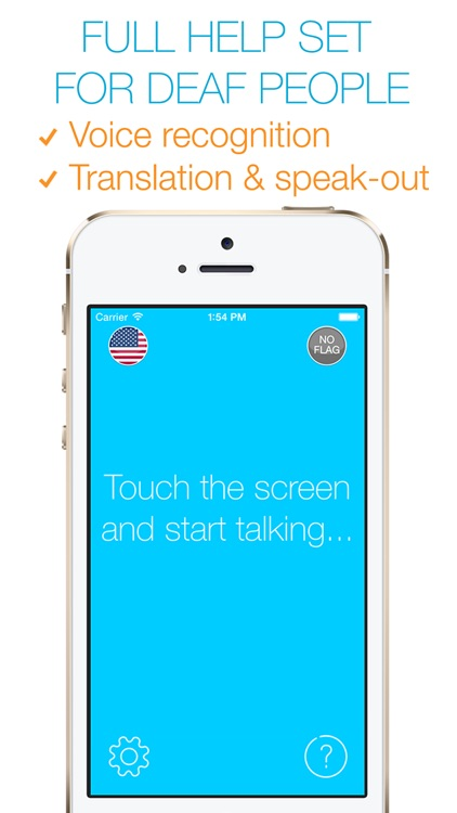 Visual Hear - live Voice and Text Translator with Speech and Dictionary (ideal for deaf people)