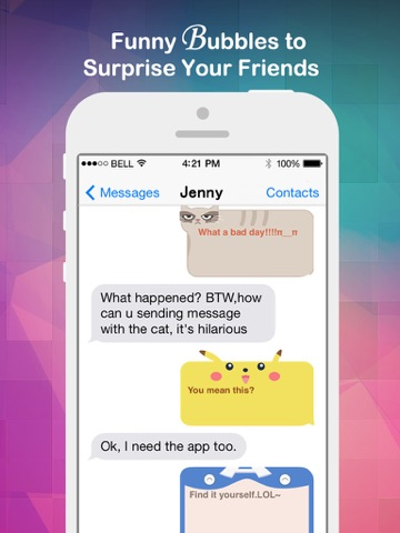 Fancy Message-Pimp Text with Emoji Keyboard, New Color Bubble and Textart FREE-ipad-0
