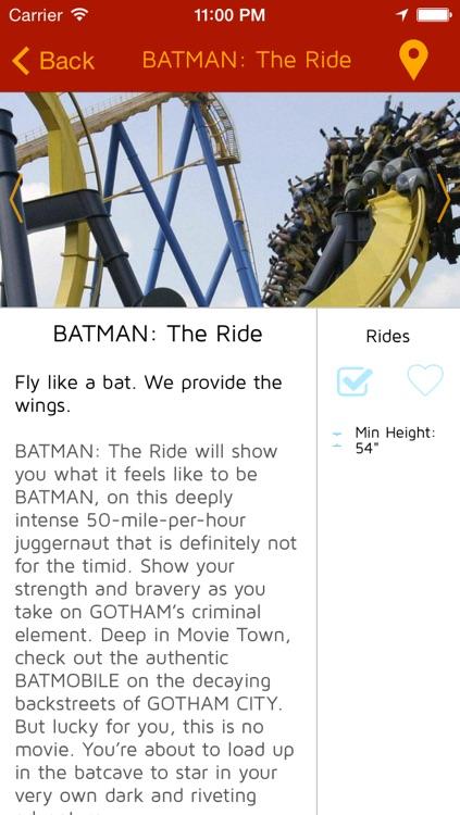 Offline Amusement park guide for Six Flags Great Adventure