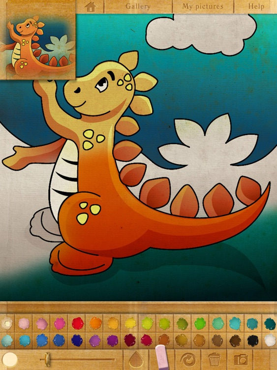 Coloring book. Dino baby. Lite