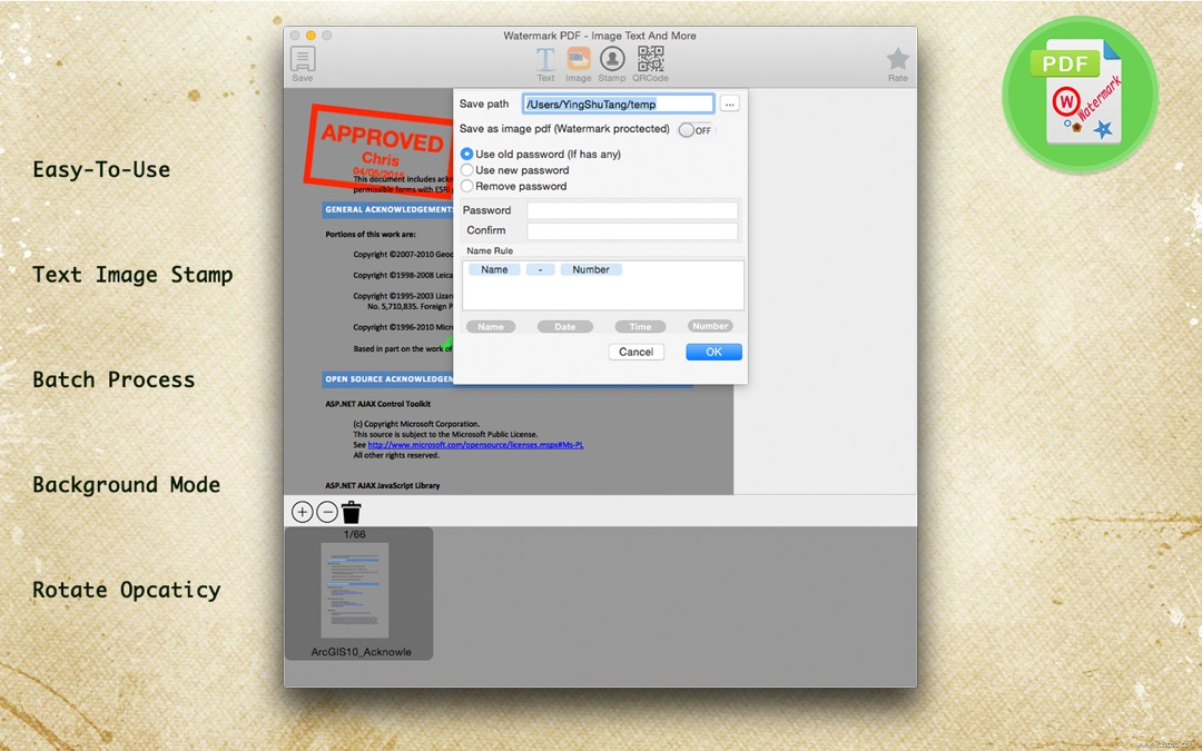 Watermark PDF - Image Text And More - Online Game Hack and Cheat