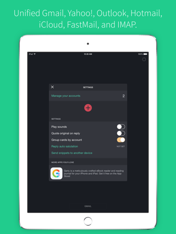 Sift Lite - Gesture based email triage for all your