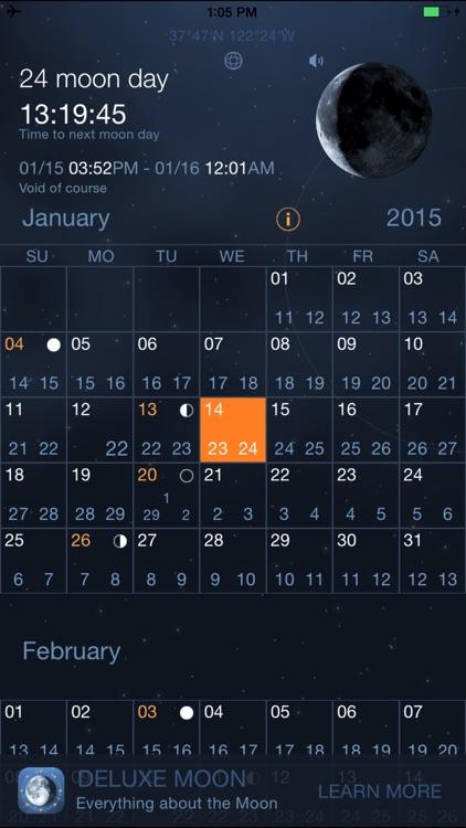 Moon Days - Lunar Calendar and Void of Course Times screenshot-0