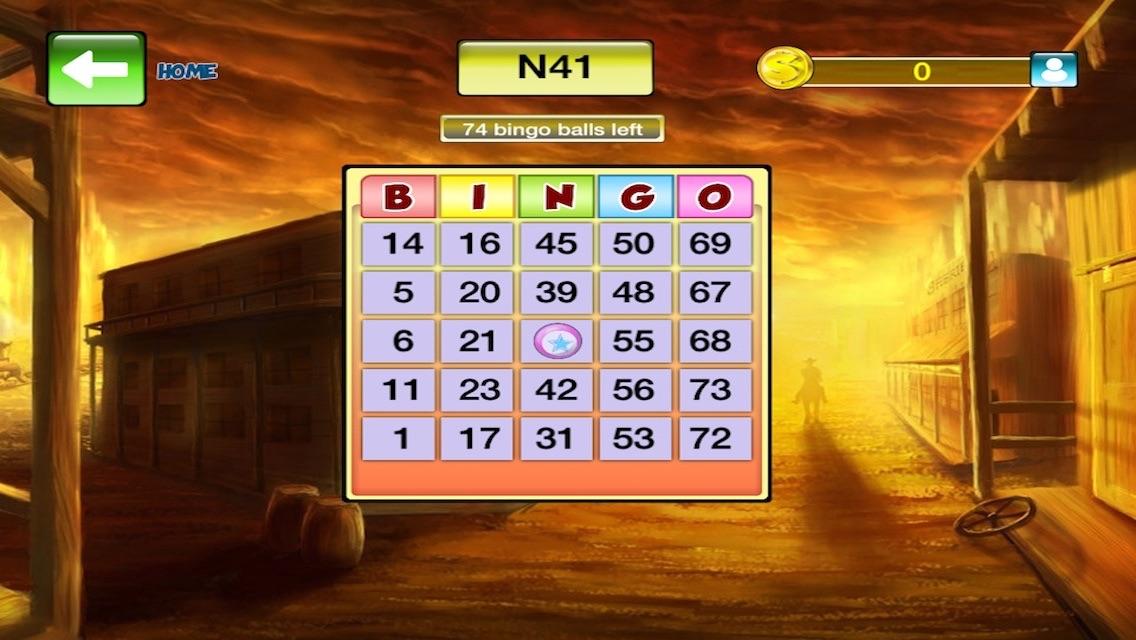 Wild West Bingo - Free Casino Game & Feel Super Jackpot Party and Win Megamillions Prizes! Screenshot