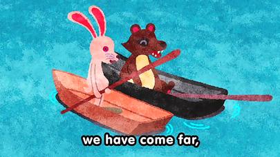 【無料版】カチカチ山(やま) ~ぬりえで遊べる赤ちゃん・子供向けのアニメで動く絵本アプリ:えほんであそぼ!じゃじゃじゃじゃん童謡シリーズのおすすめ画像4