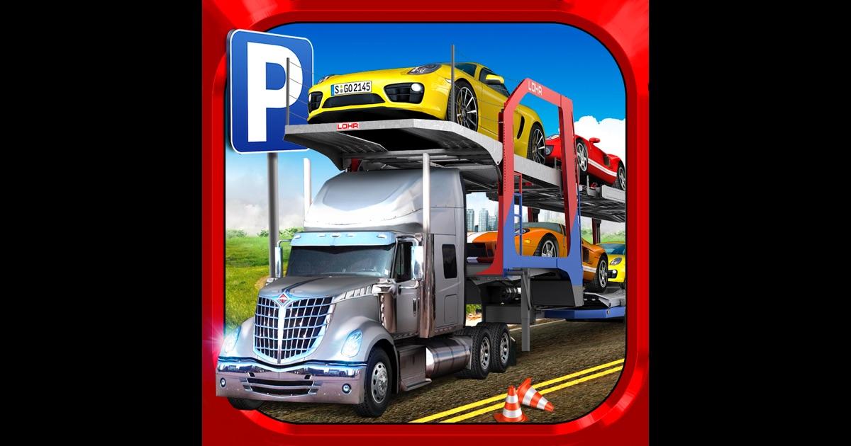 car transport truck parking simulator gratuit jeux de voiture de course dans l app store. Black Bedroom Furniture Sets. Home Design Ideas