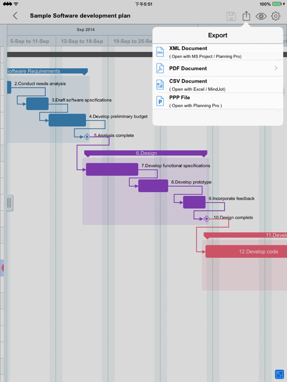 Project Manager - Plan, Task, Schedule Management & Gantt chart editor for MS Project XML files
