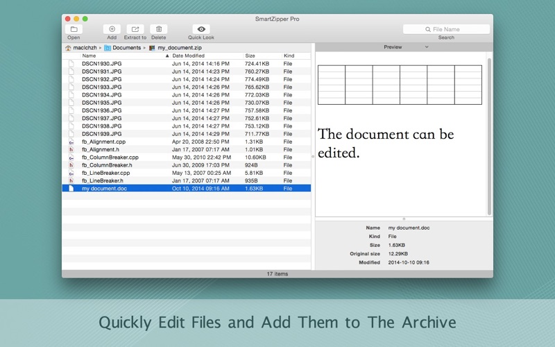 Screenshot #3 for Smart Zipper Pro - Encrypt, Compress and Decompress Zip, 7z, Gzip ... Archive Files