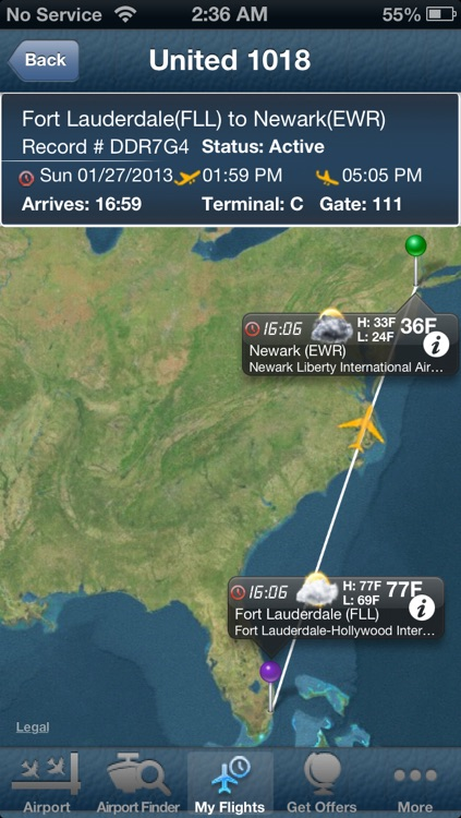 Fort Lauderdale Airport (FLL) Flight Tracker Hollywood radar screenshot-0