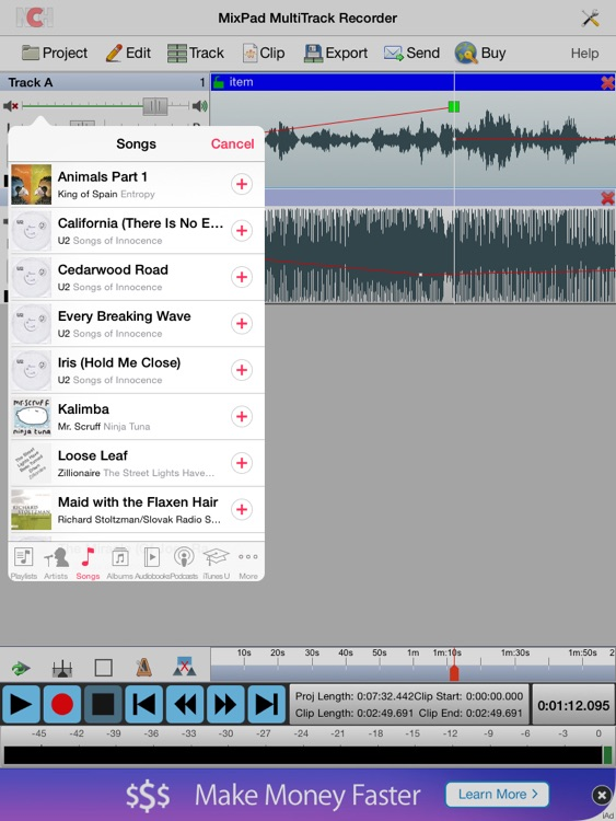 MixPad Music Mixer Free screenshot-1