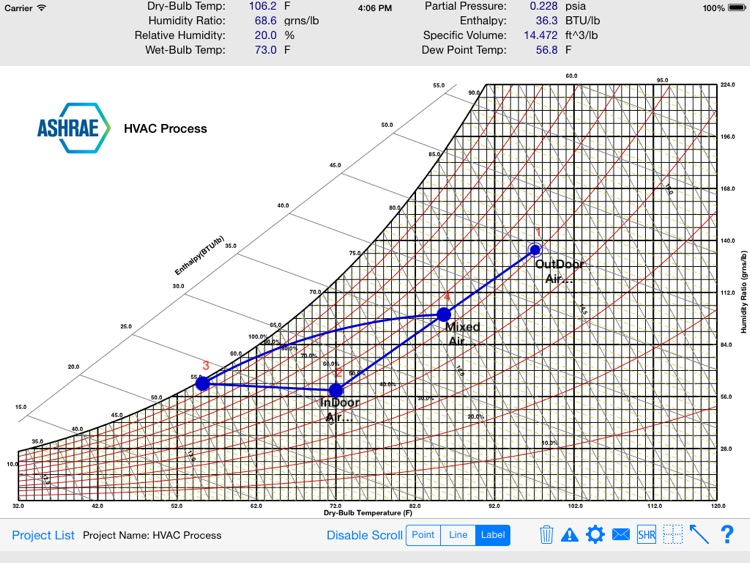 HVAC Psychrometric Chart screenshot-0
