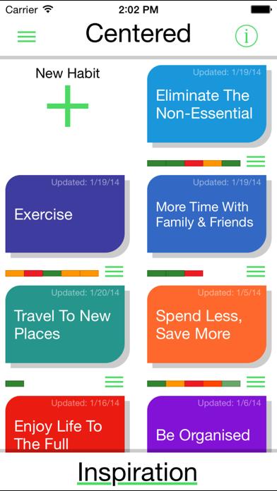 Centered: Good Habits. Good Life screenshot one