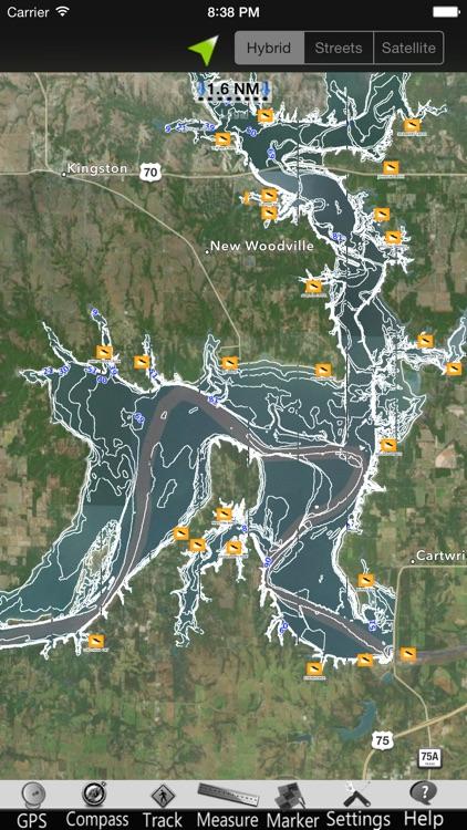 Lake Texoma GPS Nautical charts