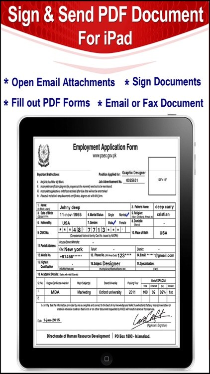 Sign & Send Documents