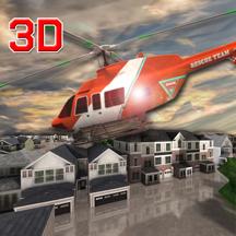 3D救护车救援直升机
