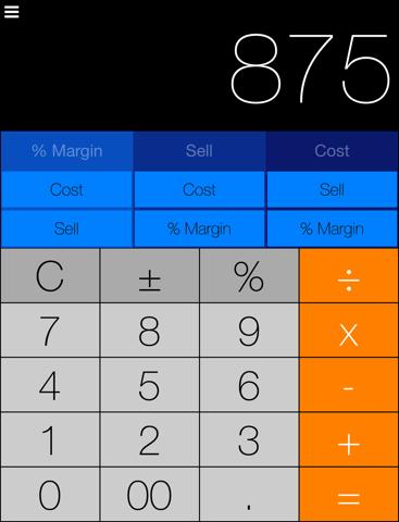 Screenshot of MarginCalc