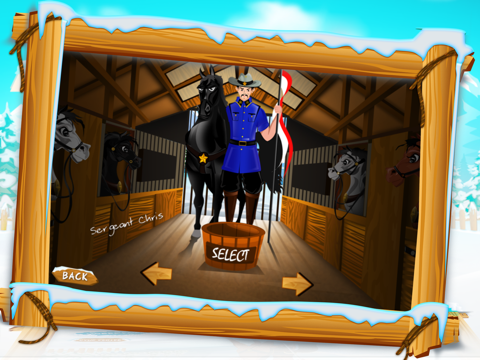 Canadian Mounted Police Horse Training : The Agility Test Racing Course - Free-ipad-1