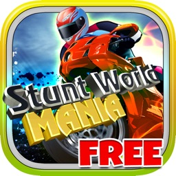 Stunt World Mania Free - Virtual Stunt Bike Stock Circuit Racing Game
