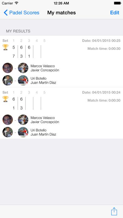 Padel Scores screenshot three
