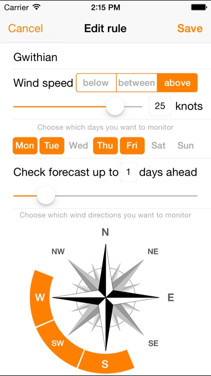 WindPush - Wind Forecast Notifier