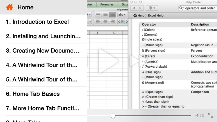 Course for Microsoft Excel - Creating Basic Worksheets
