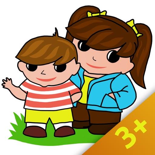 фрукты, овощи и грибы-развивающие игры для дошкольников и детей от 3+ с озвучкой на русском и английском языках.