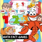 Math fact games English number practice education for kids icon