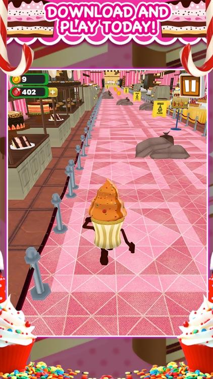 3D Cupcake Girly Girl Bakery Run Game FREE screenshot-4