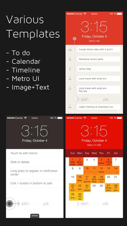 MemoLock - Notes on the lock screen, schedule