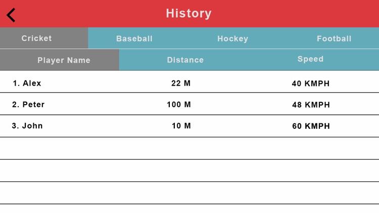 Speed Radar Gun- Cricket, Baseball, Hockey, and Football screenshot-3
