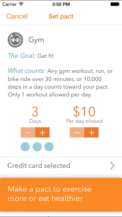 Pact: Earn Cash for Exercise and Healthy Living