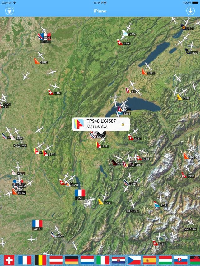 Swiss Airport iPlane Flight Information
