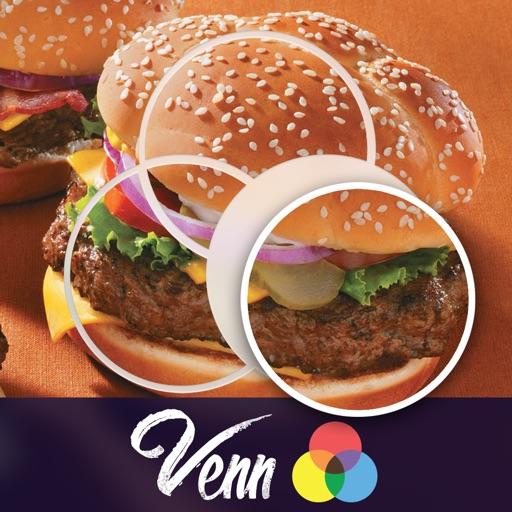 Venn Food: Overlapping Jigsaw Puzzles