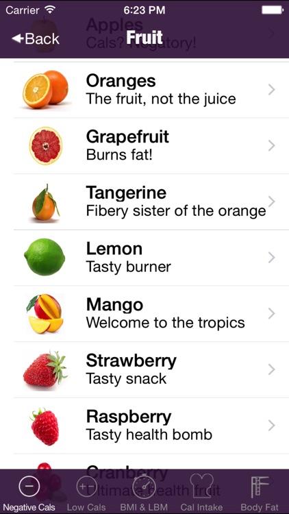 negative calorie weight loss tool screenshot-4