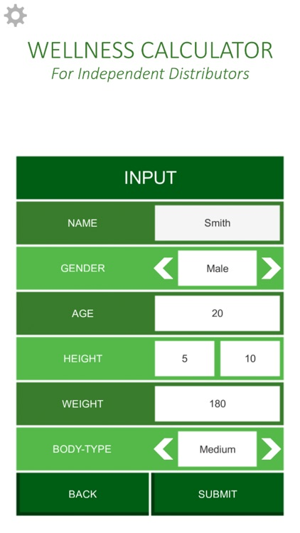 Wellness Calculator