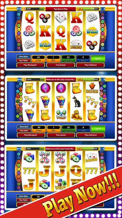 `Lucky Gold Rich Las Vegas Casino Coin Jackpot 777 Slots - Slot Machine with Blackjack, Solitaire, Bonus Prize Wheel