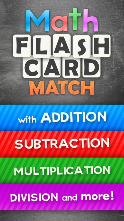 Math Flashcard Match Games for Kids in Elementary School Studying Addition, Subtraction, Multiplication and Division