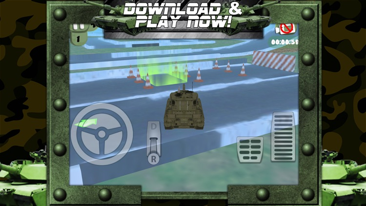3D Army Tank Parking Game with Addicting Driving and Racing Challenge Games FREE screenshot-4