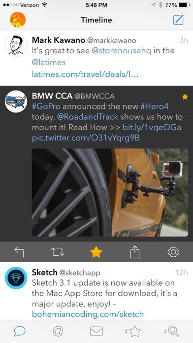 Tweetbot 3 for Twitter. An elegant client for iPhone and iPod touch Screenshot