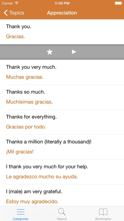 Spanish Phrasebook: Conversational Spanish screenshot-1