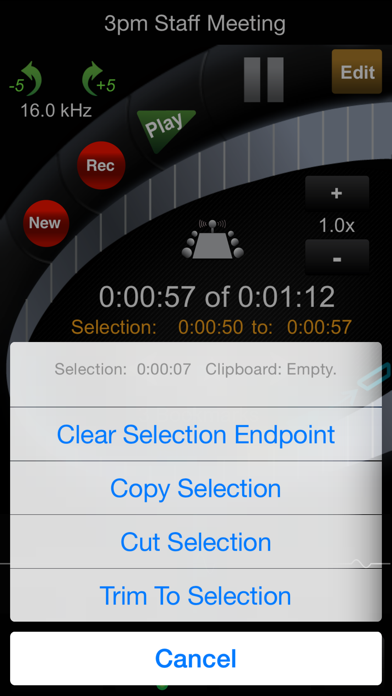 HT Professional Recorder screenshot three