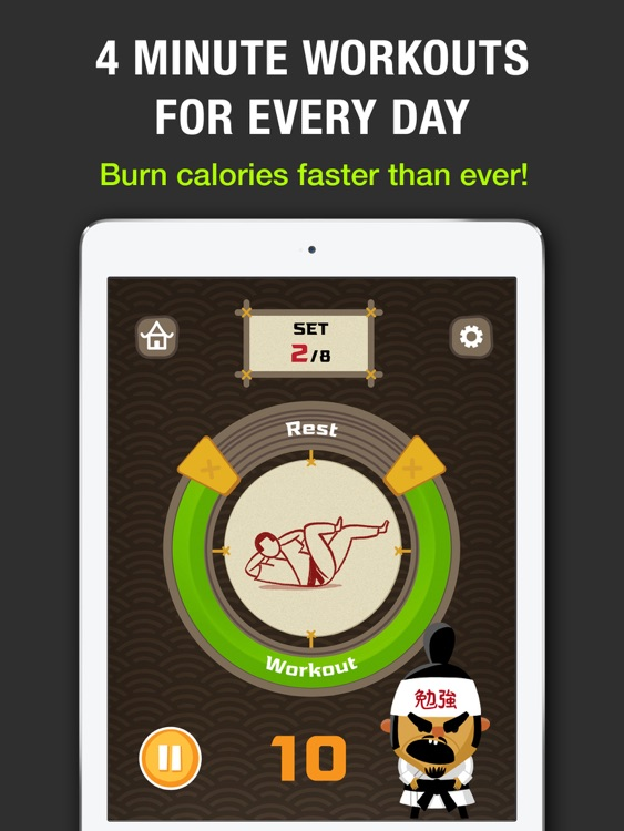 Tabata! HD: 4 Minute Workout Challenge. Burn calories faster than ever! screenshot-0