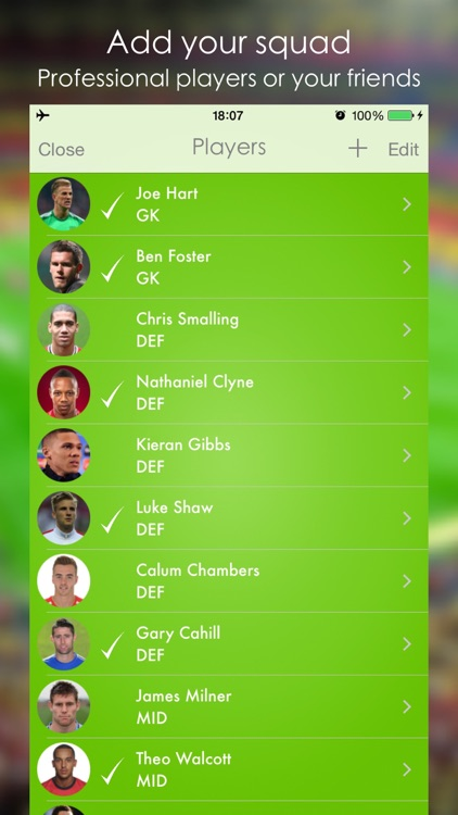 Lineup - Football Squad screenshot-1