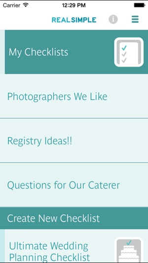 Real Simple Wedding Checklists On The App Store