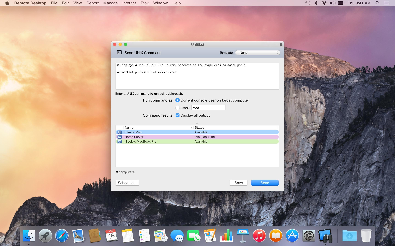 Screenshot do app Apple Remote Desktop